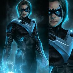 "pennydrdful: "" Jensen Ackles as Red Hood and Jared Padalecki as Nightwing by @bosslogix. """