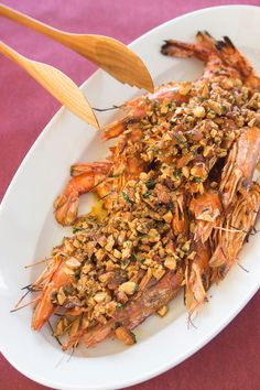 Grilled Almond Shrimp Recipe _ Briny, nutty & sweet, with a satisfying crunch, this grilled shrimp has an array of complementary flavors and contrasting textures that will keep you reaching back for more!