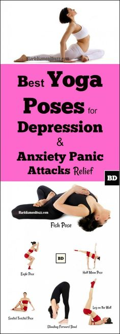 9 Best Yoga for Depression and Anxiety Panic Attacks Relief. Yoga is highly recommended by many health experts for a number of reasons including for its promotion of relaxation, depression and anxiety relief. It also makes you sleep better. If you are suffering from insomnia try yoga!There many different types of yoga poses and each one is usually associated with the benefits that it provides to the body.