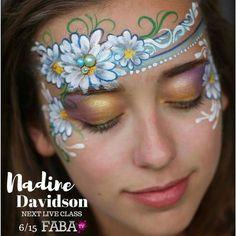 Flower headband Princess Face Painting, Girl Face Painting, Face Painting Tips, Mask Painting, Painting Tattoo, Face Painting Images, Face Painting Flowers, Face Painting Designs, Face Paintings