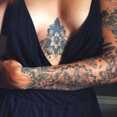 """a whole lot of beautiful tattoos on @luna.lindsay, made by @joey_saindon_sacred_owl_tattoo #hippietattoos"""