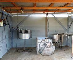 Chicken processing station Chicken Processing, Poultry Farming, Barn Loft, Chicken Ideas, Backyard Chickens, Raising Chickens, Livestock, Homesteading, Meat