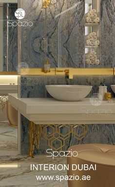 Bathroom interior decor in luxury style for dream homes