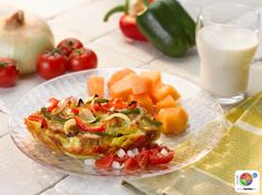 Bell Pepper and Vidalia Onion Strata with Fresh Salsa  #veggies #grains #protein #dairy #MyPlate #WhatsCooking