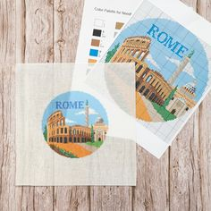 It's Friday and you'd rather be in #Rome right? @NeedlePaint has designed a collection of destination #needlepoint #ornament canvases for you to stitch. 🗺 Take a journey to some incredible locations across the world without leaving your arm chair. **Do you have a favorite travel destination? 👉 Let our designers create a #custom travel round needlepoint ornament especially for you!