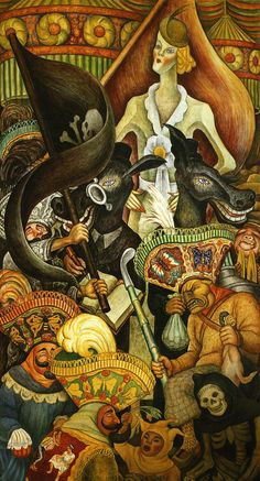 Carnival of Mexican Life series - Diego Rivera Diego Rivera Art, Diego Rivera Frida Kahlo, Statues, Frida And Diego, Mexican Artists, Latin Artists, Art Challenge, Vintage Artwork, Figurative Art