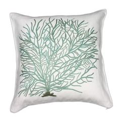 Easy to recreate! A white pillow, a stamp and some fabric paint!