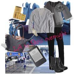 LA to Paris - Overnight Flight, created by unefemme.polyvore.com