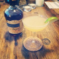 Who doesn't love a good Daiquiri?! Made with Diplomatico Añejo. #ThreeMartiniLunch #TML #cocktail