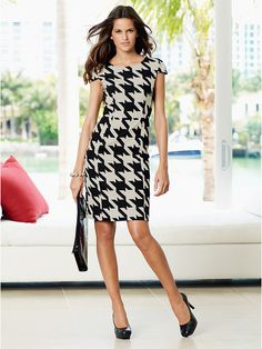 Houndstooth Dress by Next Official, via Flickr