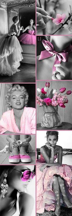 Pink Color Splash ღ Lu's Inspiration Pink Love, Pink Grey, Pink Color, Pretty In Pink, Color Pop, Colour Schemes, Color Combos, Tout Rose, Mood Colors