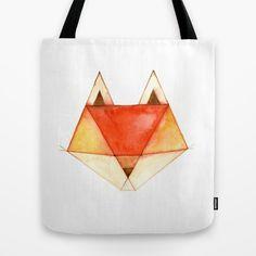 Geo Series - Fox Tote Bag