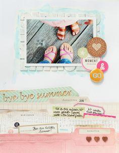 Bye Bye Summer - layout Steffi Ried #cratepaper #scrapbooking