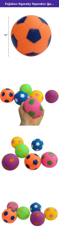 """Fajiabao Squeaky Squeaker Quack Sound Ball Toys Soft Football Play Set for Toddlers Babies Kids Infants Birthday Christmas Gifts Pack of 6. The colored balls are ideal for both indoor and outdoor play. They are 3.1"""" in diameter and add excitement to any play structure .You can buy several package and just imagine the fun your children will have in a ball pit filled with these brightly colored balls! We believe the fun balls will attract your children when you are busy in working…"""