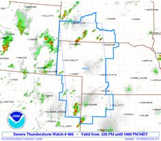 SPC Severe Thunderstorm Watch 465 Status Reports - http://blog.clairepeetz.com/spc-severe-thunderstorm-watch-465-status-reports/