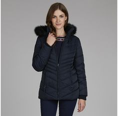 Womens navy coat from Laura Ashley - £71.25 at ClothingByColour.com