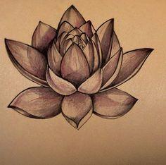 lotus flower on dark skin | tattoo stencil – temporary tattoo