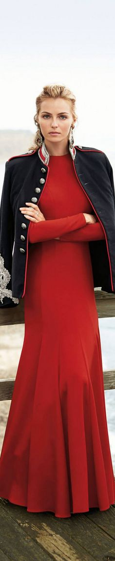 Ralph Lauren - woow take my brwath away - the sexy blonde lady in RED - Capture her heart with #Thejewelryhut designer diamonds in gold jewelry