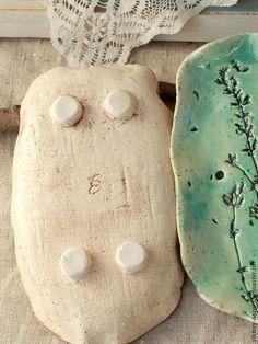 Ванная комната ручной работы. Керамическая мыльница Голубые травы. Viktory-decor (ceramics). Ярмарка Мастеров. Керамическая мыльница