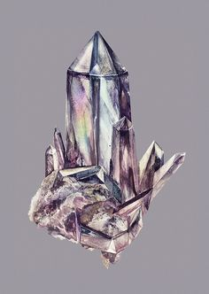 Healing Quartz by Eibatova Karina, via Flickr  this shape, with flowers on the bottom cupping the bottom edge.