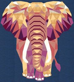 The Elephant Abstractions designed by Violet Craft. Features Kona Cotton. Pattern available for purchase (violetcraft.com). #konacotton