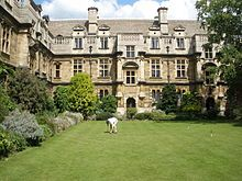 Pembroke College - The Croquet Lawn in New Court.