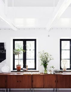 Black window frames