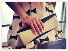Two-toned clutch and bow details from Kate Spade's Spring 2013 collection. #KateSpade #nyfw