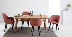 2 x Stig Armlehnenstühle; Rosa und Schwarz ► Neues Design für dein Zuhause! Entdecke jetzt Stühle in vielen Styles bei MADE.