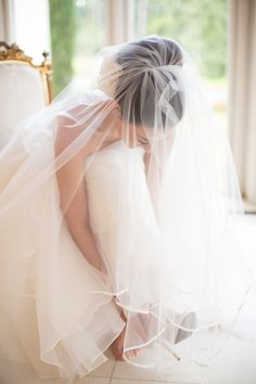 The Prettiest Texas Wedding You Ever Did See from Archetype Studio - wedding veil and hairstyle