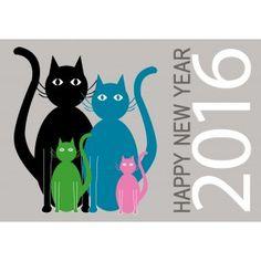 Voeux 2016 Famille Chats                                                                                                                                                                                 Plus