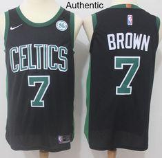 79db1d454 Nike Celtics  7 Jaylen Brown Black NBA Authentic Statement Edition Jersey