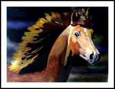 Cavallo e la sua criniera  stampe professionali di SiposArtItaly