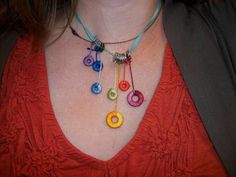 Wrapped Washer Necklace