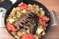 Celebration Treats 4U: Karitsan kare, paahdetut uudet perunat ja tomaatit