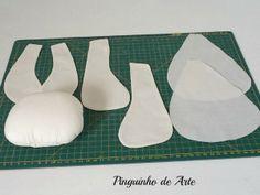 Pinguinho de Arte: (PAP) Boneca de Pano