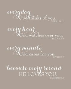 Items similar to Scripture Biblical Gift for Mom - Nursery Print - Everyday God Loves You - Inspirational Scripture Print - Print (Taupe) on Etsy Biblical Quotes, Bible Quotes, Quotable Quotes, Bible Scriptures, Mantra, Fail, Biblical Inspiration, Positive Inspiration, Happiness
