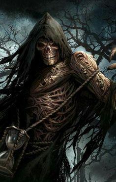 Fear the Reaper Death Reaper, Grim Reaper Art, Grim Reaper Tattoo, Gothic Wallpaper, Skull Wallpaper, Iphone Wallpaper, Dark Artwork, Skull Artwork, Freund Hein