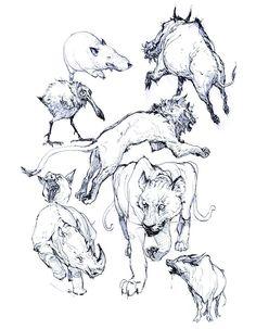 Animal Sketches, Animal Drawings, Art Sketches, Sketch Drawing, Junggi Kim, Gunslinger Girl, Character Art, Character Design, Jordi Bernet