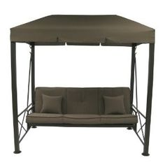 Covered 3 seater swing | Outdoor Patio 3-Seater Swing with Gazebo Top Cover review at Kaboodle