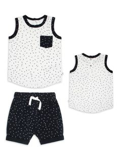 StylesILove Toddler Boy Cactus Print Tank Top and Shorts 2pcs Cotton Outfit Baby