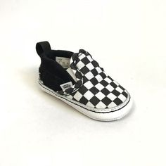 f65410e8d1 These black and white Vans Classic Checkerboard Crib Shoes are cool