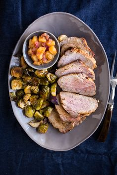 Brined Pork Loin with Pineapple Chutney by Jelly Toast #pinkpork