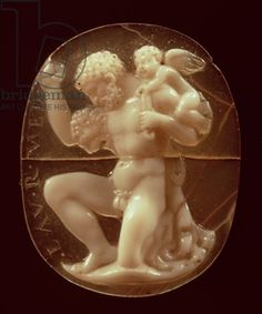Cameo of Hercules Conquered by Cupid, 1st century BC (agate and onyx)