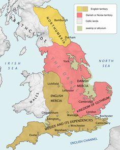 History of Anglo-Saxon England - Wikipedia Uk History, History Of England, History Timeline, European History, British History, History Facts, Anglo Saxon History, Ancient History, Vikings
