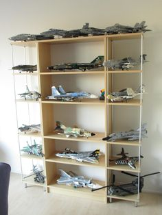 Jet Fighter Pilot, Display Shelves, Lego Display, Display Cabinets, Display Cases, Airplane Decor, Airplane Fighter, Military Modelling, Military Diorama