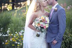 Amanda & Corey South Shore Lake Tahoe A Kiss! The Flowers!