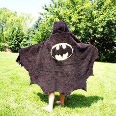DIY, Batman Towel, wish I could sew!
