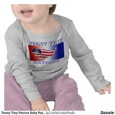 Teeny Tiny Patriot Baby Patriots Clothes. Patriotic Merchandise and American Flag Gifts for Men, Women, Kids, Mom, Dad and Pets.   Device Cases, Shirts, Mugs, Pacifiers, Patriotic Watches and more. See ALL Patriotic Gifts CLICK HERE: http://www.zazzle.com/littlelindapinda/gifts?cg=196904377583357091&rf=238147997806552929*/ ALL of Little Linda Pinda Designs CLICK HERE: http://www.Zazzle.com/LittleLindaPinda*/
