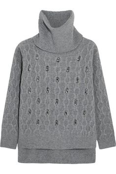 Markus Lupfer   Rosannah embellished cable-knit wool turtleneck sweater   NET-A-PORTER.COM